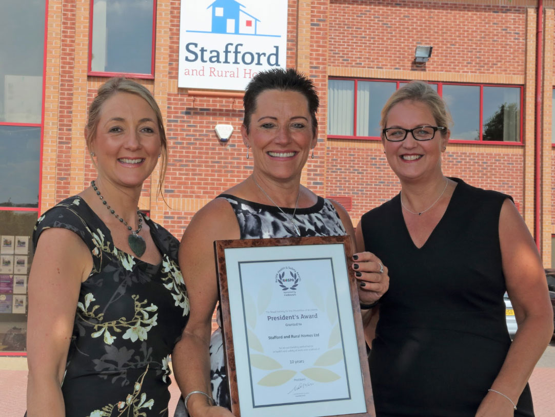From left to right: Jo Hough, Director of Organisational Development at SARH, Karen Armitage, Chief Executive at SARH and Lisa McCaulder, Managing Director at Caldiston Ltd